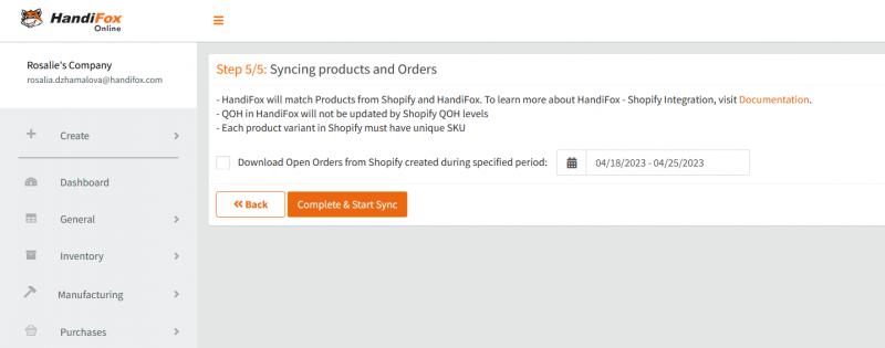 Shopify Integration - Handifox Wiki